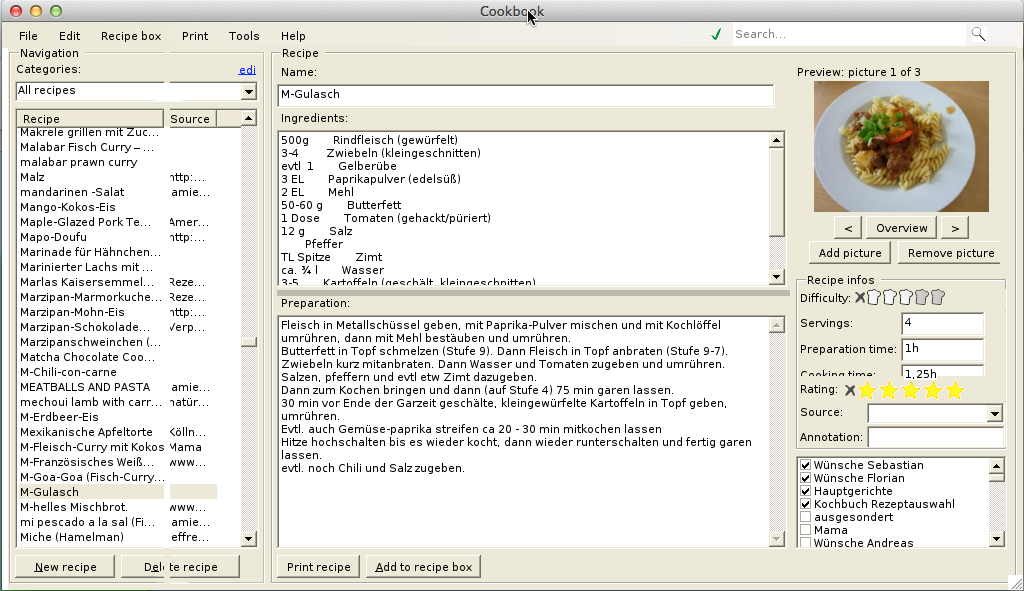 Kochbuch Mac Screenshot